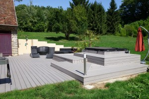 Terrasse Composite avec Spa